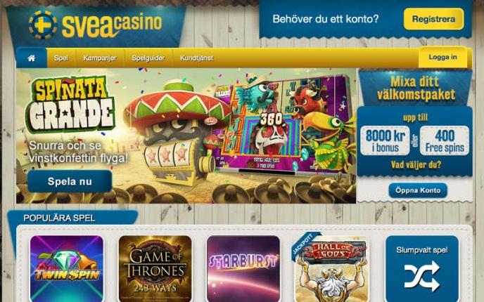 Svea casino free spins